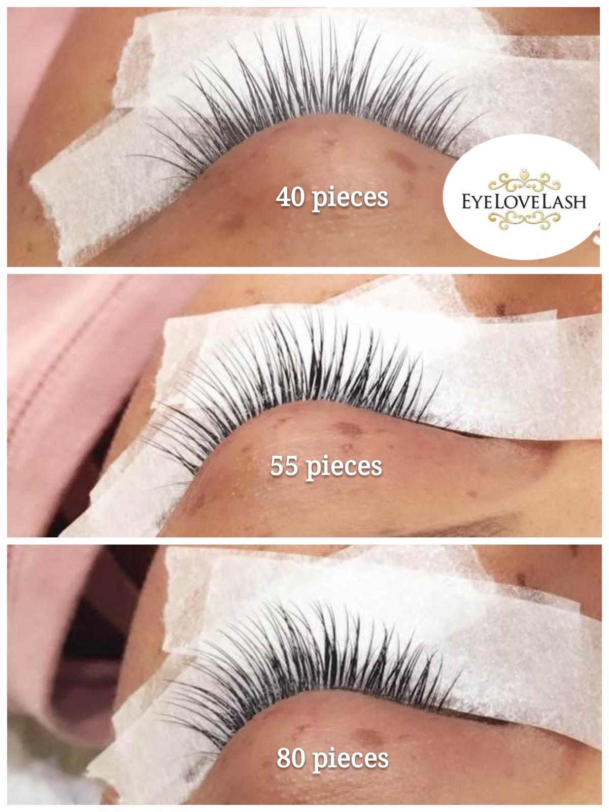 40pc trial Set Best eyelash extension service NYC